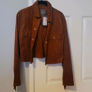 NWT Brown Suede Cowgirl Jacket 🤠